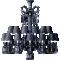 Zenith Chandelier 24L Black CrystalLeft