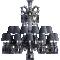 Zenith Chandelier 24L Black CrystalRight