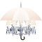 Marie Coquine Chandelier 12L White lampshadeLinks