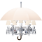 Marie Coquine Chandelier 12L White lampshadeDroite