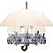 Marie Coquine Chandelier 12L White lampshadeRechts