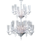 Mille Nuits Chandelier 24L Hurricane shade holders3D View