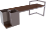 HEDERA Backless bench3D View