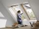 Fenetre de toit a projection finition bois massif3D View