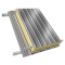 Steel double skin roofing parallel to inside perfo trays with purlin3D View