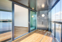 Glass sliding door CLEAR type ABack