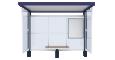 Bus shelter Cirrus JuniorFront
