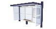 Bus shelter Cirrus Standard3D View