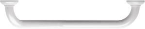 135° angled grab bar, 265 x 265 mm, White Epoxy-coated Aluminium , tube Ø 30 mmTop