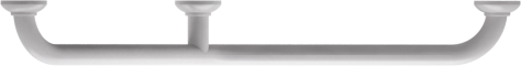 135° angled grab bar, 400 x 400 mm, White Epoxy-coated Aluminium , tube Ø 30 mm 2Top