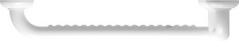 90° angled grab bar, 564.5 x 464.5 mm, White Polyalu, tube Ø 33 mmHaut