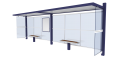 Bus shelter Double3D View