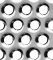 Perforated metal shader 103D View