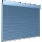 Store à lamelles reliées résistant au vent3D View