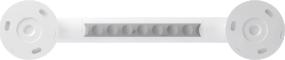 Straight grab bar, 300 mm, White Polyalu, tube Ø 33 mmBack