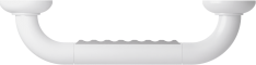 Straight grab bar, 300 mm, White Polyalu, tube Ø 33 mmTop