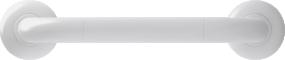 Straight grab bar, 300 mm, White Polyalu, tube Ø 33 mmFront