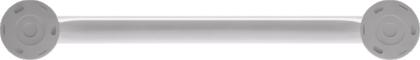 Straight grab bar, 400 mm, White Epoxy-coated Aluminium, tube Ø 30 mm 4Zurück