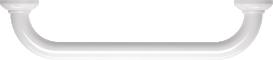 Straight grab bar, 400 mm, White Epoxy-coated Aluminium, tube Ø 30 mm 4Oben