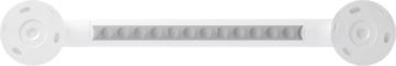 Straight grab bar, 400 mm, White Polyalu, tube Ø 33 mmBack