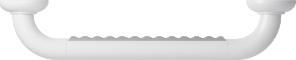 Straight grab bar, 400 mm, White Polyalu, tube Ø 33 mmTop