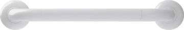 Straight grab bar, 400 mm, White Polyalu, tube Ø 33 mmFront
