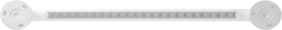 Straight grab bar, 600 mm, White Polyalu, tube Ø 33 mmBack