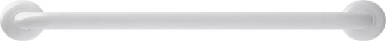 Straight grab bar, 600 mm, White Polyalu, tube Ø 33 mmFront