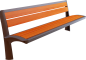 Wooden bench 23D View