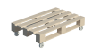 Palette Wood Coffee Table3D View
