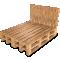 Palette Wood Bed F3D View