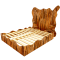 Palette Wood Big Bed3D View