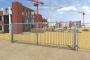 Portail de chantier pivotantBack