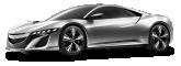 Acura NSX Gray Car 1DIFFUSE3