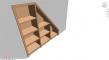 Stairs cupboard storage Style 1Terug