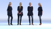 Dosch Design Low-Poly People Sample3D View