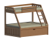 Wood Bunk Bed Twin Over Full3D View